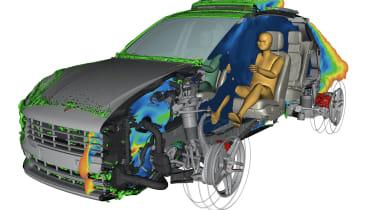 Electric Porsche Macan - render