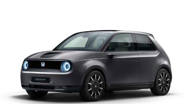 Honda e front grey