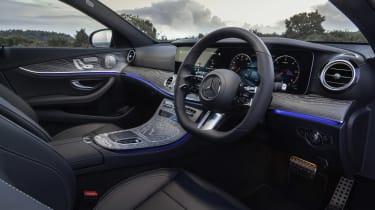 Facelifted Mercedes E-Class estate steering wheel