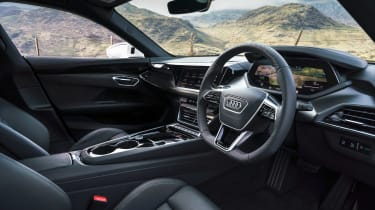 Audi e-tron GT saloon steering wheel