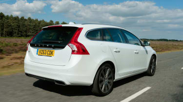 The V60's boot is only 431 litres with the rear seats up and 1,246 litres with them folded down
