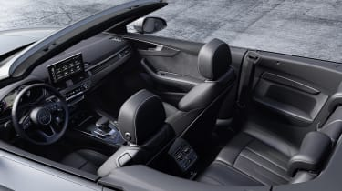 Audi A5 Cabriolet interior roof open