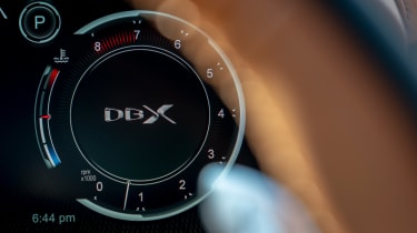 Aston Martin DBX SUV digital instruments