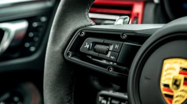 Porsche Macan SUV steering wheel