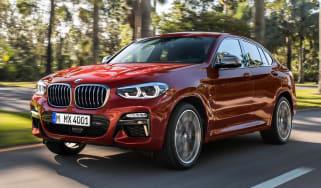 BMW X4 driving