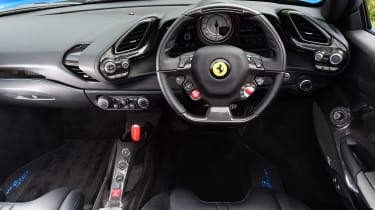 Ferrari 488 Spider convertible dashboard