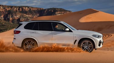 BMW X5 off-road side