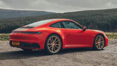 Porsche 911 coupe rear 3/4 static