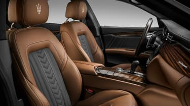 Maserati Quattroporte GranLusso with Ermenegildo Zegna silk trim