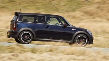 MINI Clubman driving - side view