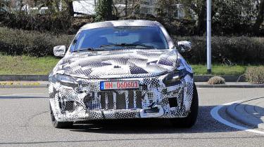 2022 Ferrari Purosangue SUV prototype - front on view
