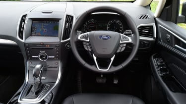 Inside, the Galaxy benefits from Ford's latest SYNC infotainment system