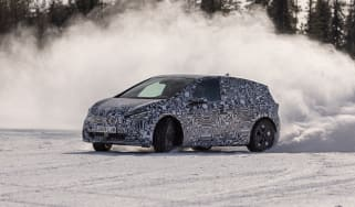 New 2021 Cupra Born prototype - front 3/4 drift