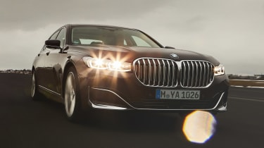 BMW 745e hybrid saloon front driving
