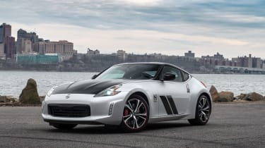 Nissan 370Z 50th Anniversary Edition - front quarter silver/black