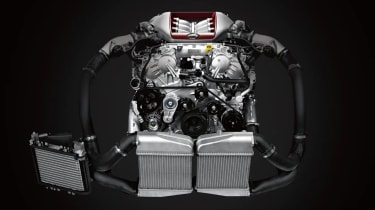 2020 Nissan GT-R - updated V6 twin-turbocharged engine
