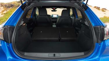 Peugeot e-208 hatchback boot