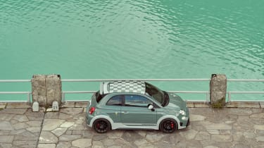 Abarth 695 70th Anniversario - side view elevated view