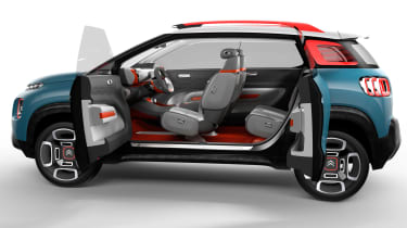 Rear opening doors are unlikely to make it to the production car