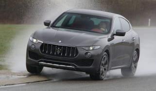 Maserati Levante cornering