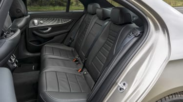 Mercedes E-Class saloon - rear seats side view