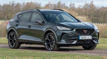 Cupra Formentor SUV review front 3/4 static