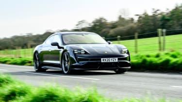 Porsche Taycan - front 3/4