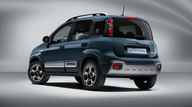 2020 Fiat Panda Cross - rear view 3/4 view