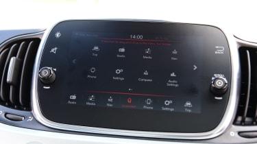 Fiat 500 mild hybrid infotainment display
