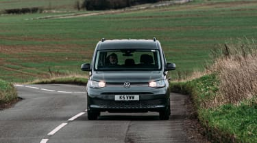 Volkswagen Caddy MPV driving front view