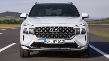 2020 Hyundai Santa Fe driving - front close up