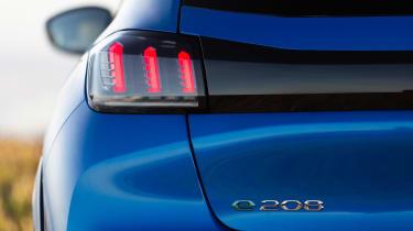 Peugeot e-208 hatchback rear lights