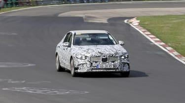 2021 Mercedes C-Class testing at the Nurburgring - front corner