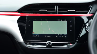 Vauxhall Corsa hatchback infotainment display