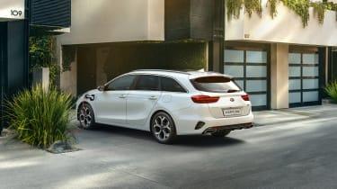 Kia Ceed Sportswagon PHEV charging on driveway