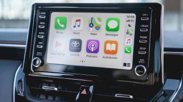 Toyota Corolla hatchback infotainment display