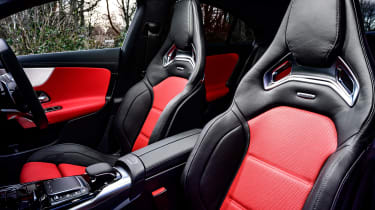 Mercedes-AMG CLA 45 saloon front seats