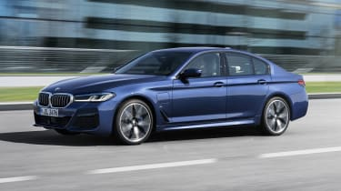 New 2020 BMW 5 Series saloon - front 3/4 dynamic
