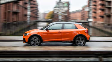 Audi A1 Citycarver hatchback side driving