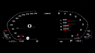BMW M8 Competition coupe digital instruments