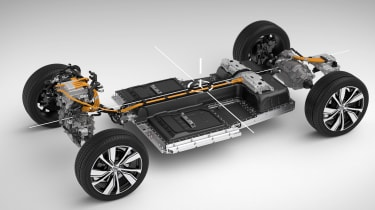 Volvo XC40 Recharge chassis