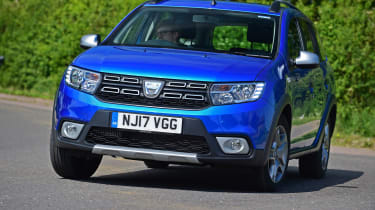 Despite these rugged styling cues, the Logan MCV Stepway is front, not four-wheel drive