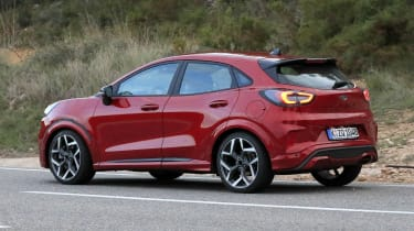 2020 Ford Puma ST - rear 3/4 passing view