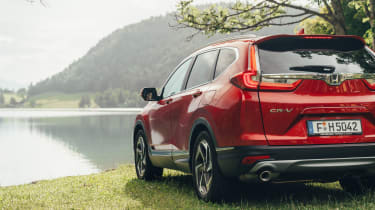 The Honda CR-V has a distinctive new look, mainly thanks to LED rear lights that continue across the boot