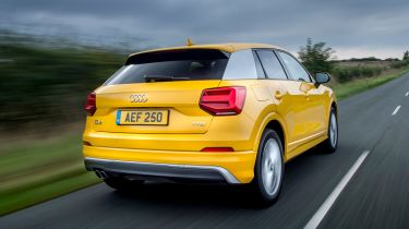 Yellow Audi Q2