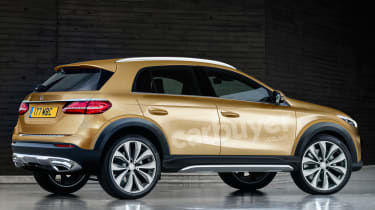 Mercedes GLA render - rear view