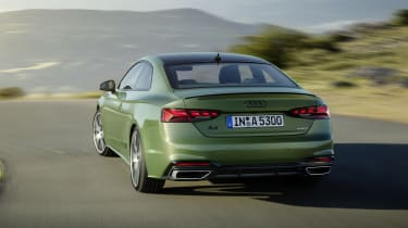 Audi A5 driving rear end