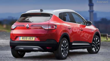 2020 Renault Captur hybrid - render rear