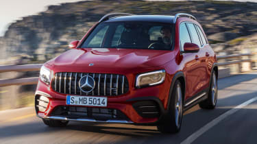 2020 Mercedes-AMG GLB 35 - front close up 3/4 dynamic