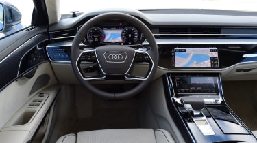 It's inside, though, that the A8 really comes to life, courtesy of a striking and extremely advanced dashboard